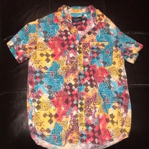 Colorful Topman button up shirt